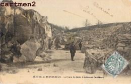 VOISINS-LE-BRETONNEUX LA CROIX DU BOIS ANCIENNES CARRIERES CARTE TOILEE 78 YVELINES - Francia