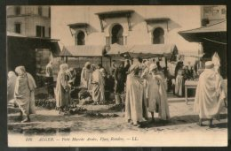 Algeria 1911 Small Arab Market To Berlin Germany View / Picture Post Card # 123 - Algeria
