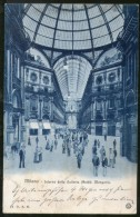 Italy 1929 Milan Interior Of The Gallery View Picture Post Card To Germany # 138 - Other