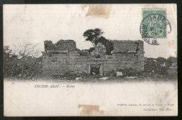 Tunisia 1907 Tunis Enchir Arat Ruines View / Picture Post Card To France # 124 - Tunisia