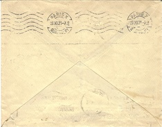 1921- KRAG - Paris X -Quai Valmy -en Arrivée -6 L O - B D à Pont Sur 1 Ligne Sur Lettre De Serbie - Storia Postale