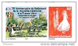 Nouvelle Caledonie France Timbre Personnalise Timbre A Moi Autocollant Prive Lunardo Ralliement Ffrance Libre Drapeau Un - Nouvelle-Calédonie