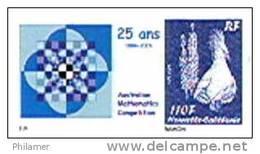 Nouvelle Caledonie Timbre Personnalise Prive Association Mathematics Competition Mathematiques Symbole Cagou Neuf
