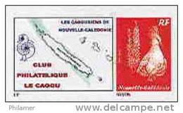 Nouvelle Caledonie Timbre Poste Personnalise Cagou Ramon Oiseau Prive Cagousiens De NC Neuf Avec Support 2009 Unc
