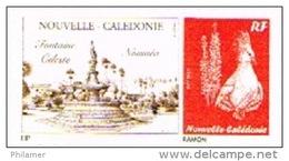 Nouvelle Caledonie Timbre Personnalise Prive M. Benl Fontaine Celeste Noumea Place Cocotiers 2013 Neuf UNC
