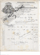 59 - Nord - LILLE - Facture LEMAITRE-DEMEESTERE - Tissage De Toiles - 1896 - REF 67A - France