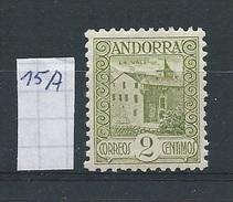 Andorra - Spaans         Y /T    15A         (XX)