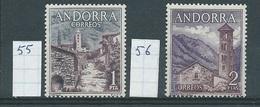 Andorra - Spaans         Y /T      55 + 56        (XX)