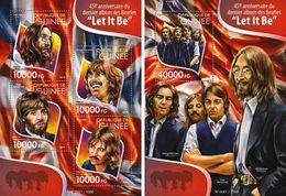 The Beatles John Lennon Paul McCartney Ringo Starr George Harrison Pop Rock Music Guinea MNH Stamp Set