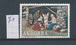 Andorra - Spaans         Y /T      71       (X)     Plakker