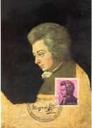 "(M) DDR Private Maximumkarte Mi-Nr. 2572  ""225.Geburtstag Von W.A. Mozart"" ESSt. BERLIN  13.1.81"