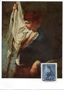 """(M) DDR Maximumkarte Mi-Nr. 591  """"Dresdner Gemäldegalerie - Ein Junger Fahnenträger Von Giovanni Battista"""" Ungestempelt"""