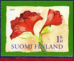 Ref. FI-V2009-1 FINLAND 2009 CHRISTMAS, RELIGION, FLOWERS,, MINT MNH 1V