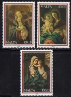 Ref. M1-V2009-01 MALTA 2009 CHRISTMAS, RELIGION - PAINTING, SET MINT MNH 3V - Malte