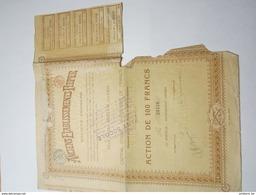 Anciens Etablissements Pieper  - Herstal - Action De 100 Francs - Voir Description - Industrie