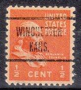 USA Precancel Vorausentwertung Preos Locals Kansas, Winchester 723