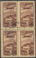 RUSSIA -  1949 50k Air Post Block Of Four. Scott C83. Used - 1923-1991 UdSSR