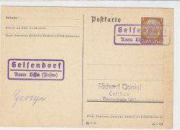 LANDPOST Gelfendorf Kreis Lissa (Posen) - Briefe U. Dokumente