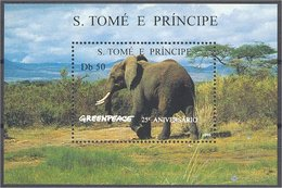 ST. THOMAS AND PRINCE SET + SHEETLET ANIMALS/GREENPEACE