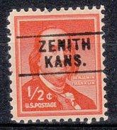 USA Precancel Vorausentwertung Preos Locals Kansas, Zenith 745