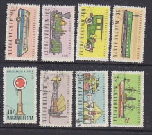 Hungary 1959 Transport 8v Used (SB102) - Hongarije