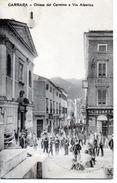 CARRARA - CHIESA DEL CARMINE E VIA ALBERICA - VIAGGIATA - Carrara