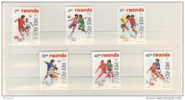 BUZIN / RWANDA 1986 / COUPE DU MONDE DE FOOTBALL A MEXICO / SERIE  COMPLETE / COB 1275-1280