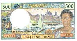 B.005 Billet Banque Caledonie Tahiti Polynesie Wallis Banknote 500 F Cfp Monnaie Kanak Tahitien Neuf UNC - Frans Pacific Gebieden (1992-...)