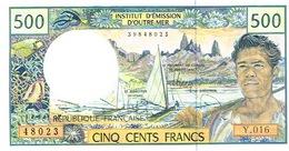 Y.016 Billet Banque Caledonie Tahiti Polynesie Wallis Banknote 500 F Cfp Monnaie Kanak Tahitien DERNIER Neuf UNC - Frans Pacific Gebieden (1992-...)