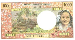 E.054 Billet Banque Caledonie Tahiti Polynesie Wallis Banknote 1000 F Cfp Monnaie Kanak Tahitien DERNIER Neuf UNC - Frans Pacific Gebieden (1992-...)