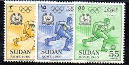 XP2090 - SUDAN 1960 , La Serie Emessa Per I Giochi Olimpici *** .