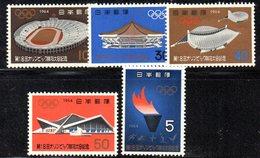 XP2057 - GIAPPONE 1964 , La Serie 869/873  Emessa Per I Giochi Olimpici Di Tokyo  *** .