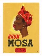 Etiquette  Rhum  Mosa - G V ( Galibert  & Varon ) - Vers 1940 - 1 Seul Exemplaire - - Rhum