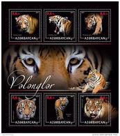 AZERBAIJAN 2017 ** Tigers Tiger M/S - PERSONALIZED - DH1717