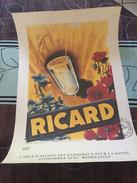AFFICHE PUBLICITAIRE RICARD 1957 / NOUVEAU TIRAGE EN SERIE LIMITEE - Affiches