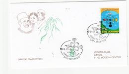 2001 DIALOGO FRA' CIVILTA'   San Marino FDC Venetia Vg - FDC