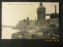 Cpa CORBEIL (91) Vue Des Grands Moulins Sur La Seine - Corbeil Essonnes