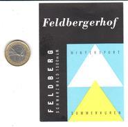 ETIQUETA DE HOTEL  - HOTEL FELDBERGERHOF  - FELDBERG 1500m ü.M -SUIZA (SUISSE)  ( CON CHARNELA ) - Hotel Labels