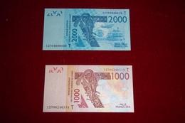 2 BILLETS TOGO 2012 UNC - Togo