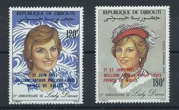 Djibouti PA N° 172/73** (MNH) 1982 - Lady Diana Naissance Prince William