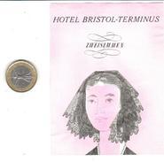 ETIQUETA DE HOTEL  -HOTEL BRISTOL TERMINUS  -ZWEISIMEN -SUIZA (SUISSE)  ( CON CHARNELA ) - Etiquetas De Hotel