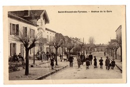 40 - SAINT-VINCENT-DE-TYROSSE . AVENUE DE LA GARE - Réf. N°2797 - - Saint Vincent De Tyrosse