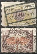 Belgique - Chemin De Fer - TR39 TR41 - Obl. St GILLES - 1895-1913