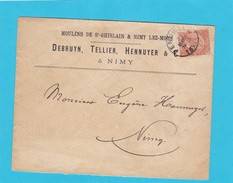 N° 57 / Lettre De Peruwelz En Tête Moulins De ST GHISLAIN Et NIMY