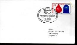 ALLEMAGNE    FDC   1974  Croix Rouge  Don Du Sang Secours Accidents  Coeur