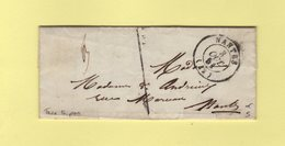 Nantes - 42 - Loire Inferieure - 3 Oct 1851 - Taxe Tampon Locale - Postmark Collection (Covers)