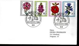 ALLEMAGNE     FDC    1974   Fleurs