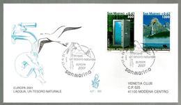 2001 EUROPA   San Marino FDC Venetia Vg - FDC
