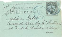2205 Pneumatique 50 C Chaplain Carte Lettre Yv 2534 CLPP   Ob 1896   Paris  42 Avenue De Friedland