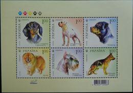 Ukraine, 2008, Mi. 961-66 (bl. 66), Y&T 883-888, Sc. 728, SG 849, Dogs, MNH - Ukraine